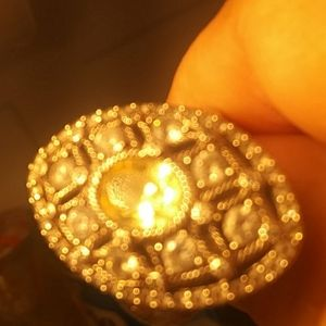 Judith Took a Yellow cz ring 925 Thailand 7.5